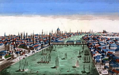 General View of London by French School