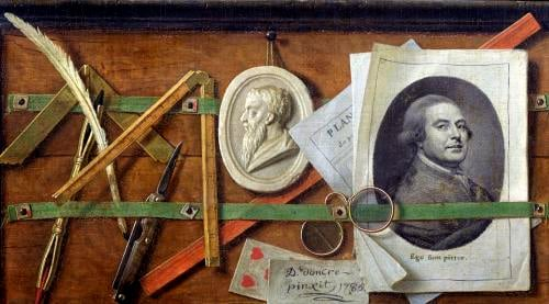 Trompe l'Oeil 1785 by Guillaume Dominique Jacques Doncre