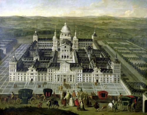 View of El Escorial by Spanish School