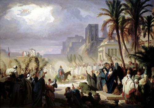 The Entry of Christ into Jerusalem by Louis Felix Leullier