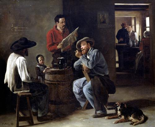 Interior of a Tavern 1859 by Francois Bonvin