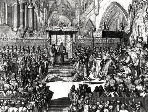 The Coronation of King George I at Westminster Abbey 1714 by Anonymous