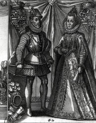 Portrait of Albert Archduke of Austria and his wife Isabella Clara Eugenia by Austrian School