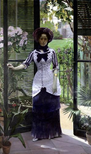 In the Greenhouse 1881 by Albert Bartholome