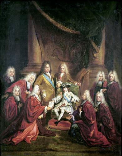 Louis XV Granting Patents of Nobility to the Municipal Body of Paris by Louis de Boulogne the Younger