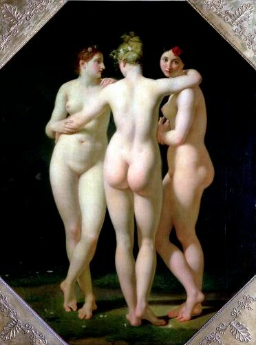 The Three Graces 1794 by Jean-Baptiste Regnault