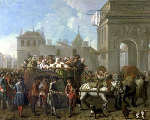 Transport of Prostitutes to the Salpetriere c.1760 by Etienne Jeaurat