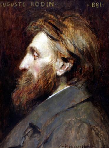 Portrait of Auguste Rodin 1881 by Francois Flameng