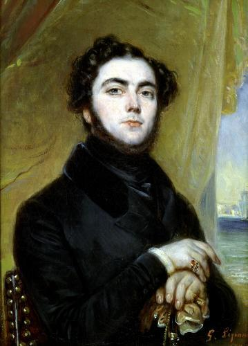 Portrait of Eugene Sue 1837 by Francois Gabriel Guillaume Lepaulle
