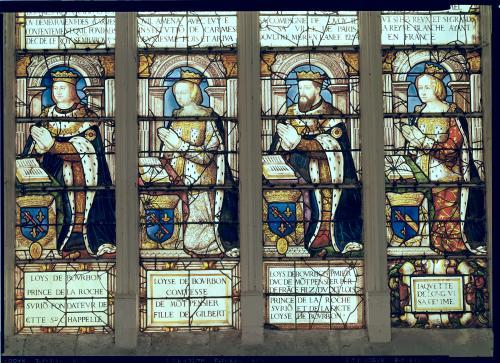 Window depicting Louis de Bourbon  Prince de La Roche-sur-Yon by French School