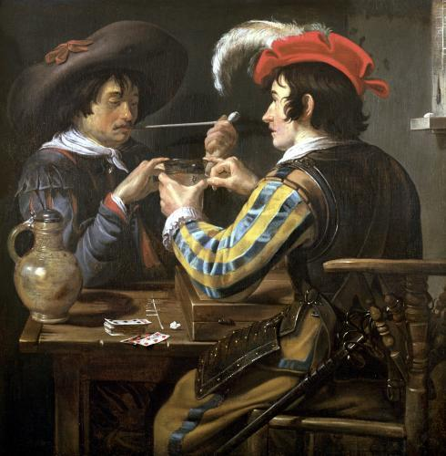 The Card Players by Theodor Rombouts