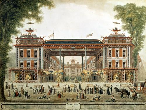 The Chinese Baths in Paris established by Lenoir by French School