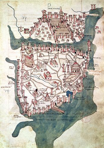 Plan of Constantinople by Italian School
