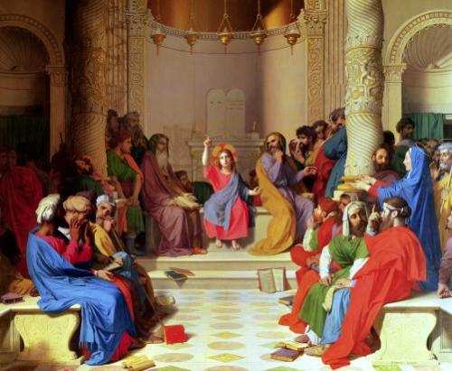 Jesus Among the Doctors 1862 by Jean-Auguste-Dominique Ingres