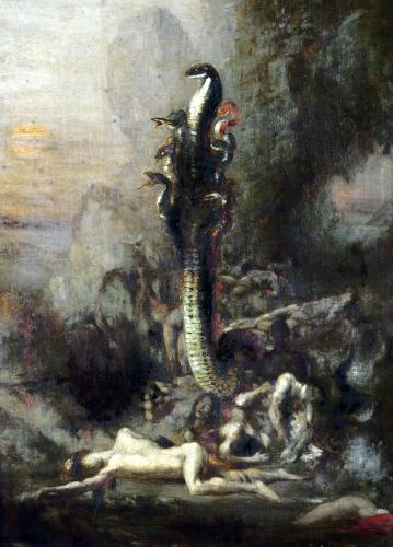 Hercules and the Lernaean Hydra c.1876 (Detail) by Narcisse Bercher