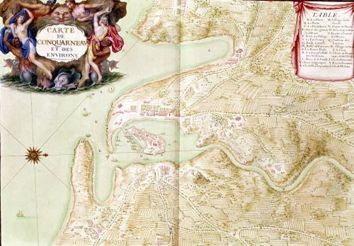 Map of Corncarneau from the 'Atlas Louis XIV' 1683 by Sebastien Le Prestre de Vauban