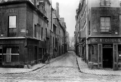 Rue des Bernardins from Quai de La Tournelle by Charles Marville