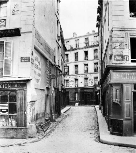 Rue Maitre Albert Paris 1858 (I) by Charles Marville