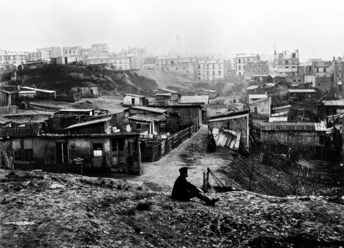Top of rue Champlain Paris 1858 by Charles Marville