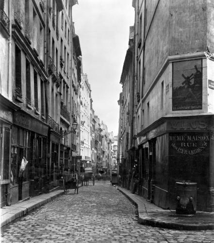 Rue des Moineaux from Rue des Orties Paris 1858 by Charles Marville
