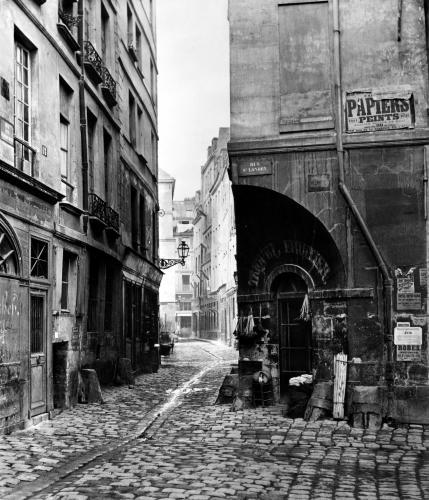 Rue des Marmousets from rue Saint-Landry Paris 1858 by Charles Marville