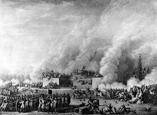 Publishing the martial law at the Champs-de-Mars Paris 1791 by Jean Louis Prieur the Younger