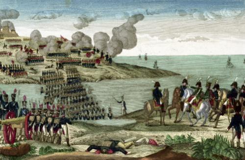 Siege of Trocadero by Louis-Antoine de France by French School