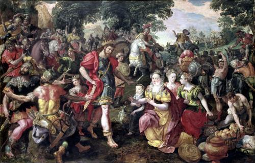 David and Abigail or Alexander and the Family of Darius by Marten de Vos