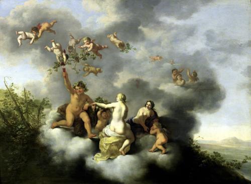Ceres Bacchus Venus and Cupid by Cornelis van Poelenburgh