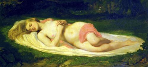 Sleeping Nymph 1844 by Jean Baptiste Ange Tissier