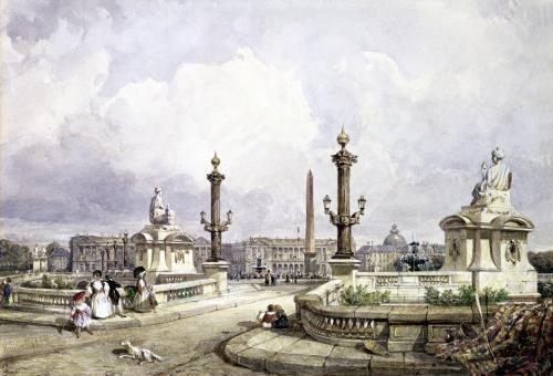 The Place de la Concorde c.1837 by William Wyld
