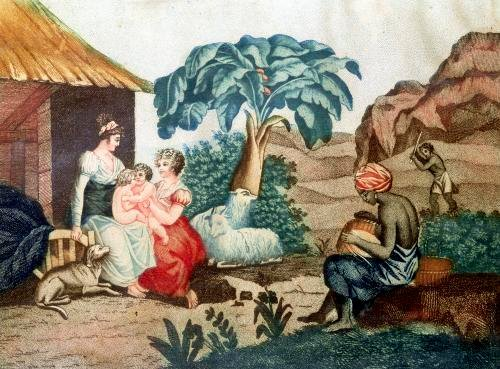 The Childhood of Paul and Virginie from 'Paul et Virginie' by French School