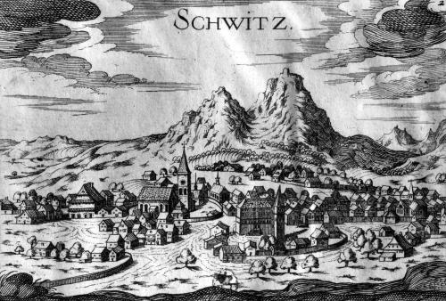 View of Schwyz by French School