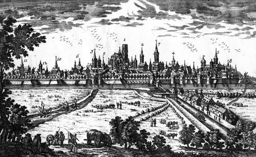 View of Ghent by French School