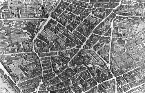 Plan of Paris 'Plan de Turgot' 1734 - 2 by Louis Bretez
