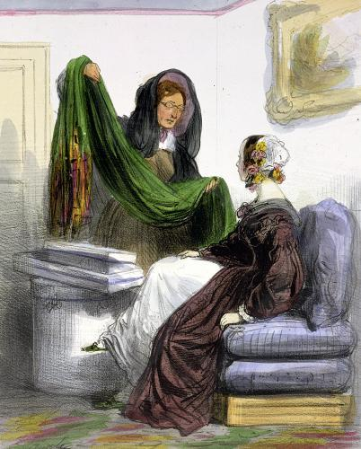 The Cloth Seller from 'Les Femmes de Paris' 1841 by Alfred Andre Geniole