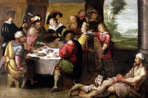 The Parable of the Rich Man and Lazarus by Frans Francken The Younger