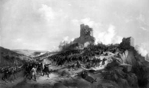 Taking of Laghouat by General Pelissier by Jean Adolphe Beauce