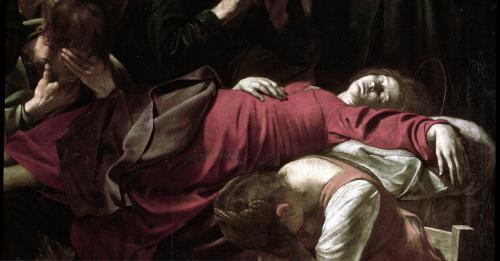 The Death of the Virgin 1605 (Detail) by Michelangelo Merisi da Caravaggio
