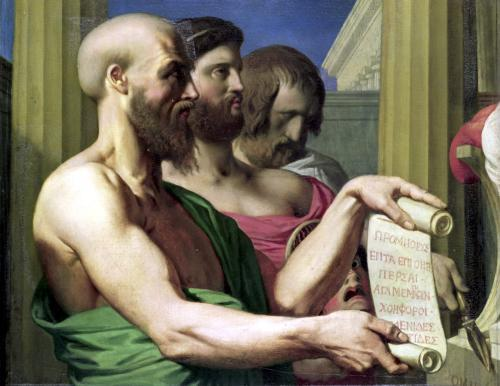 The Greek Tragedians study for 'The Apotheosis of Homer' by Jean-Auguste-Dominique Ingres