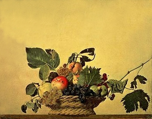 Basket with Fruit, c.1596 by Michelangelo Merisi da Caravaggio
