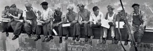 Lunch Atop A Skyscraper 1932 (detail) by Charles C. Ebbets