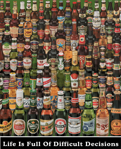 Difficult Decisions (Beer Bottles) by Anonymous
