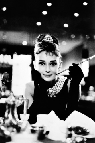 Audrey Hepburn (Breakfast at Tiffany's B&W) by Anonymous
