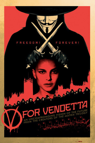 V for Vendetta (Red) by Anonymous