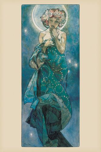 Mucha (Moon) by Alphonse Mucha