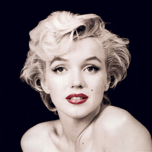 Marilyn Monroe (Red Lips) by Celebrity Image