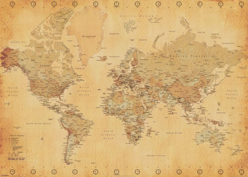 World Map (Vintage Style) by Giant