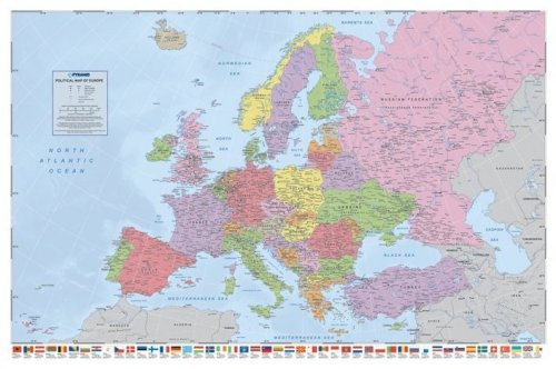 Political Map Of Europe (Flags) by Maxi