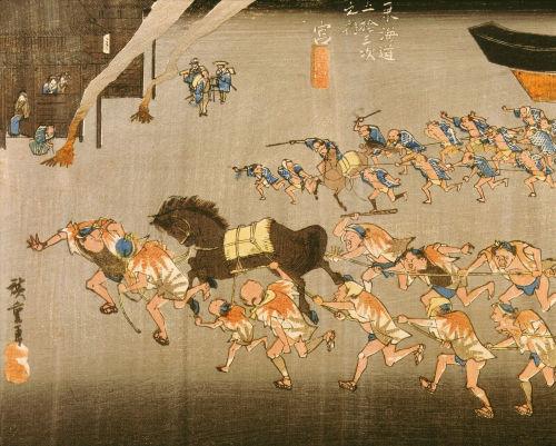 Miya from Fifth-Three Stations of the Tokaido Road by Ando Hiroshige